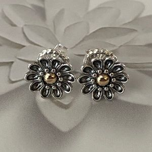 Authentic Pandora Oopsie Daisy Earrings